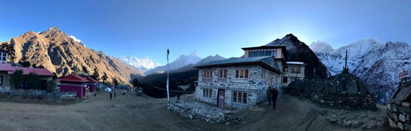 Stayed at lodge at Tyengboche