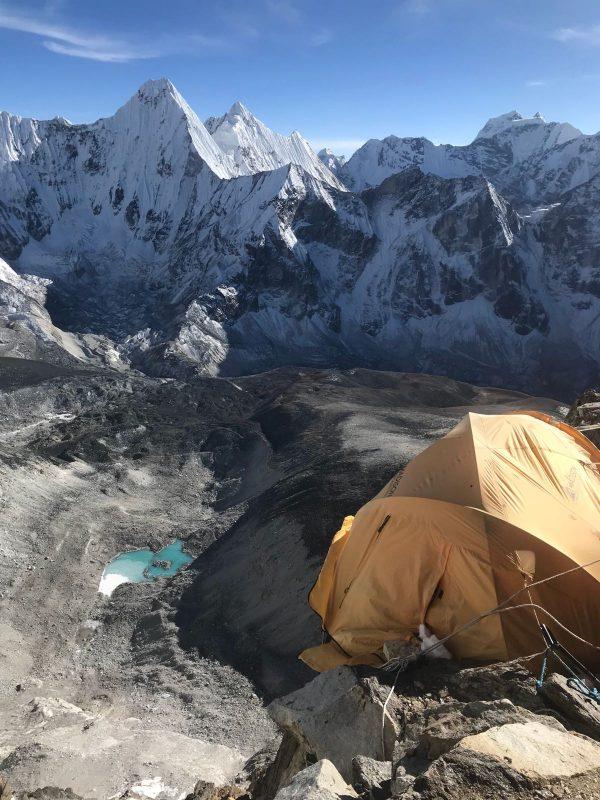Tent view at camp 2
