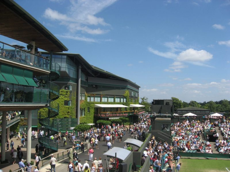 Outside Wimbledon courts